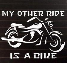 my other ride is a bike window STICKER DECAL VAN CAR COLOUR DUB JDM