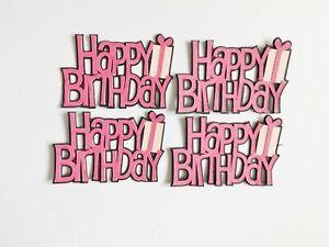 Happy Birthday Sentiments Papercraft Embellishments Scrapbooking Card Crafts