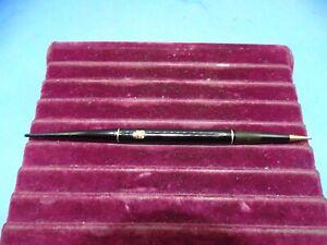 Vintage Waterman Mechanical Pencill Black & Gold Trim W/ Gold Cadillac Emblem