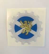 VESPA COG SCOTTISH FLAG 3D BADGE ULMA FALBO VIGANO  LAMBRETTA  SCOTLAND ARDOR