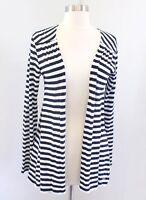Vineyard Vines Navy Blue White Striped Lightweight Cardigan Over Piece Size S