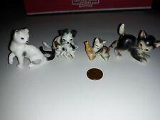 Vintage Lot Miniature Cat kittens kitty Cat Figurines ceramic