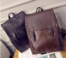 030 womens vintage messenger pu Leather Travel Shoulder Backpack Handbag Bags