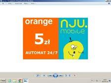 doładowanie Orange NJU Mobile 5 zł kod zdrapka miło i szybko AUTOMAT 24/7
