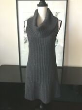 Theory Cable Knit Sweater Dress Sz M Wool/Cashmere/Mohair Cowl Neck