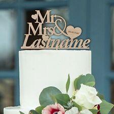 WOODEN Mr Mrs PERSONALISED Wedding Cake Topper Wedding Cake Decoration Keepsake