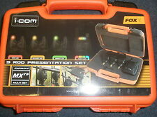Fox Micron MXR+ 3 Alarm (Multi Coloured) and Receiver Set Carp fishing tackle