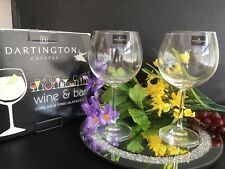 Set Of 2 Dartington Crystal Gin & Tonic Copa Glasses In Box