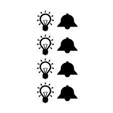 8 Aufkleber für Flurlicht Hausflur Beschriftung für Klingel Licht Klingeltaster