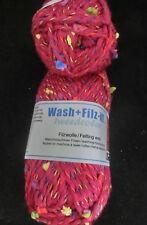 (78 €/kg): 500 g  Wash+Filz-it TWEEDCOLOR - dunkelrot mit bunten Noppen #3155