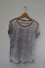 Waist Length Cotton Patternless NEXT T-Shirts for Women