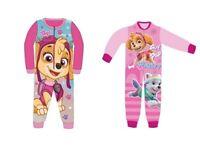 Paw Patrol Skye Fleece Sleepsuit Pyjamas Girls All In One 18-24,2-3,3-4,4-5Years