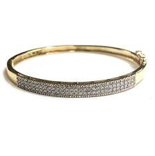 cb95a347be6f4 Bangle Unbranded Yellow Gold 14k Fine Diamond Bracelets for sale   eBay