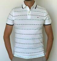 Tommy Hilfiger Mens Designer Stretch Polo TH Flex Slim Fit Polo White M or XL