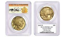 2015-W $50 1oz Proof Gold Buffalo PR70 PCGS Thomas Cleveland Art Deco