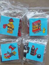 LEGO CITY SCENE - FIREMAN & FIRE CAR TO THE RESCUE +EXTINGUISHER AXE TEA MUG