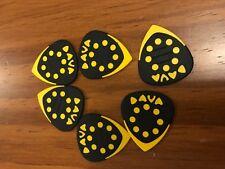 Guitar Picks Dava Yellow Grip Tips x 6