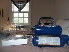 CAMPBELL HAUSFELD 1 HP 2 Gallon TWIN STACK AIR COMPRESSOR & NAILER/STAPLER new