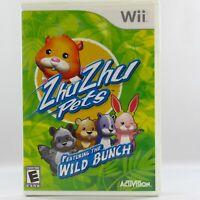 Zhu Zhu Pets: Featuring The Wild Bunch Nintendo Wii 2010 Complete