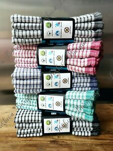 Jumbo Tea Towels 100% Cotton Kitchen Cloths Cleaning Drying 50x70cm 2 4 8 Pack