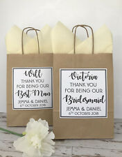 PERSONALISED WEDDING FAVOUR GIFT BAG | PARTY BAG | THANK YOU BAG | TEXT IVORY