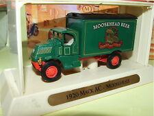 AC MACK Bièr MOOSEHEAD 1920 MATCHBOX YGB09 Publicitaire
