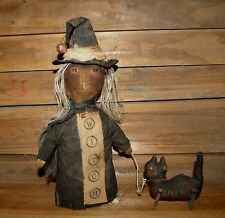 PATTERN~on cd/ my PRIMITIVE saltbox/FALL/HALLOWEEN/CAT/WITCH/STUMP DOLL/pt61