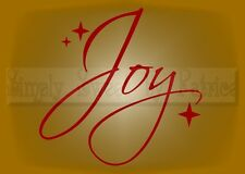 JOY Christmas Holiday Vinyl Wall Saying Lettering Quote Decoration Decal Sign
