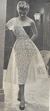 "1950s Vintage Sewing Pattern DRESS B30"" (R76)"