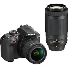Nikon D3400 24.2MP Digital DSLR Camera with 18-55mm & 70-300mm Lenses in Black