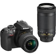 Nikon D3400 24.2MP Digital DSLR Camera with 18-55mm & 70-300mm Lenses in Black