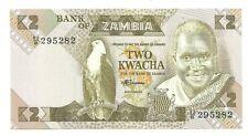 2 Two Kwacha van Zambia ,Nieuw ,,zie foto's ,,Nr 3448 ,,