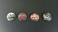 Joe Strummer The Clash: Set of 4 Pins-Buttons-Badges UK punk rock