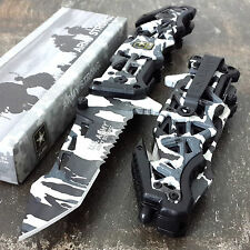 TACTICAL US ARMY WINTER SNOW CAMO Assisted Open Knife TANTO Folding Blade