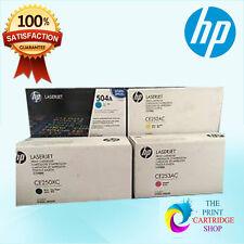 New & Genuine HP CE250X CE251A CE252A CE253A Full Toner Set CMYK CM3530 CP3525