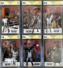 Walking Dead Deluxe #1-6 Variant Cover Set ALL CGC 9.8 Signed by Charlie Adlard