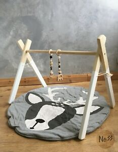 Handmade Wooden Baby Gym/ Play Gym/ Baby Centre in White
