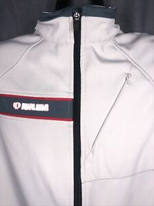 PEARL iZUMi Thermal Lined Barrier Cycling Vest Ivory,  zipper pockets, size L