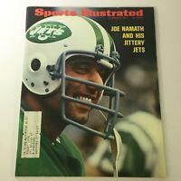 VTG Sports Illustrated Magazine October 9 1972 Joe Namath & His Jittery Jets