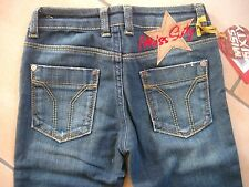 (215) Miss Sixty Girls Jeans Hose mit Stern Aufnäher und Logo Stickerei gr.116