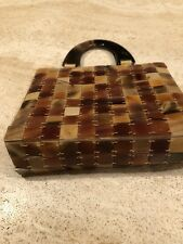 Vintage Tile Purse Clutch Handbag With Handles