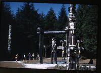 1950s Kodachrome photo slide Totem Pole  Tourist Vacation