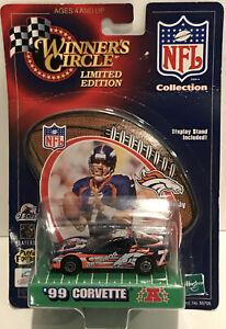 Hasbro Winner's Circle 1999 JOHN ELWAY CORVETTE NFL Denver Broncos LIMITED NEW !