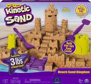 Kinetic Sand Beach Sand Kingdom Playset with 3lbs of Natural Sand