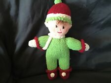 Hand Knitted Christmas Elf, Toy Novelty, Decoration