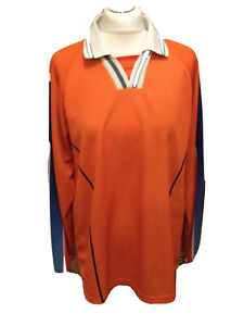 "Vintage Kelly Football Shirt No 3 Orange/Blue 38-40"" Chest Long Sleeve T2179"