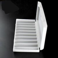 18650 Battery Storage Case Box Organizer Holder White for 10 x18650 Batteries