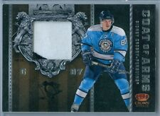SIDNEY CROSBY 2011-12 CROWN ROYALE COAT ARMS GAME USED JERSEY / PATCH SP/25