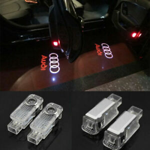 2x Logo Ghost Shadow Projector Courtesy LED Door Light For AUDI A5-S4 A6 S6 Q7