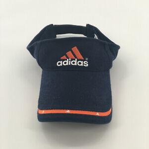 Adidas Kids Youth Visor Hat Navy Blue And Orange Adjustable